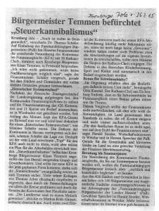150226 KB Bürgermeister Temmen befürchtet Steuerkannibalismus