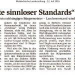 160712 WLZ Eine Liste sinnloser Standards erörtern 001 PuB